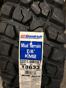 4 New Lt 32 11 50 15 Lrc 6 Ply Bfgoodrich Mud Terrain T A Km2 Mud Tires