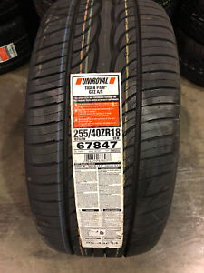 2 New 255 40 18 Uniroyal Tiger Paw Gtz A s Tires