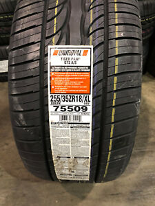 2 New 255 35 18 Uniroyal Tiger Paw Gtz A S Tires