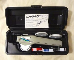 Dymo Organizer 1610 Label Maker W Case 3 Typeface Font Wheels