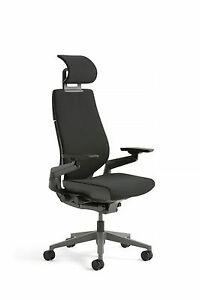 Steelcase Gesture Chair With Adjustable Headrest Wrap Back Buzz2 Black 5f17