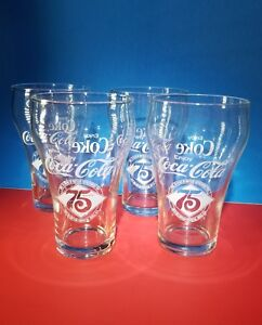 Vintage Coca-cola 75th Anniversary glasses 1902-1977 Set Of 4