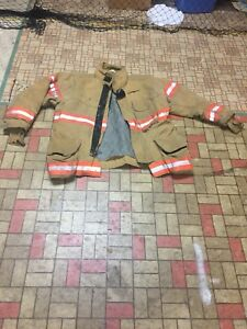 Firefighter Gear Turnout Jacket Coat Lion Apparel Janesville 46 32 Use costume