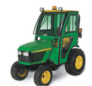 Complete Curtis Hard Sided Cab For John Deere 2320 2520 2720 Compact Tractor