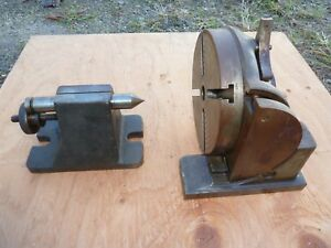 Tilting Index Head And Tailstock For Milling