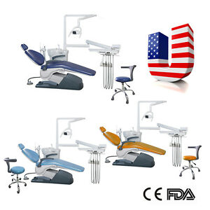 Dental Unit Chair W Stool Computer Controlled Hard Leather Fda Ce Buy To Door