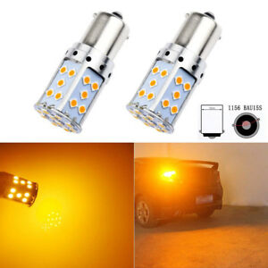 35w High Power Amber Yellow Error Free 1156 Bau15s 35 Smd Led Turn Signal Lights