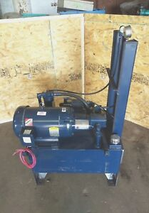 10hp 20 Gallon Hydraulic Power Unit With Directional Valves solenoids And Gauges