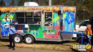 2015 8 5 X 14 Shaved Ice Concession Trailer For Sale In Alabama