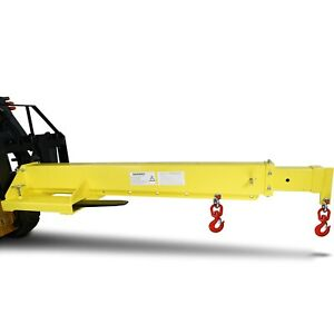 Titan Mobile Crane Forklift Extension With Truss Hoist Jib Boom And Hook