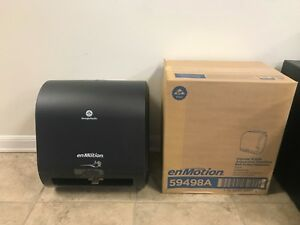 New 8 Georgia Pacific Automated Paper Towel Dispenser Black 59498a