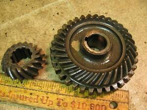 Allis Chalmers C B Tractor Belt Pulley Pto Bevel Gears Ac