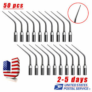 50x Dental Ultrasonic Scaler Endo Endodontics Tip Ed3 Fit Dte Satelec Wrench Hed