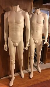 Mannequins Lot 4 Total 3 Male And 1 Female Fiberglass Display Local Pick Up Only