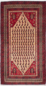 Hand Knotted Persian 3 2 X 5 11 Persian Vintage Traditional Wool Rug