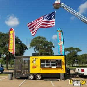 2018 8 5 X 20 Bbq Concession Trailer With Porch For Sale In Texas