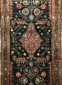 Lovely Lilihan 1920s Antique Sarouk Rug Tribal Oriental Carpet 3 X 6 Ft