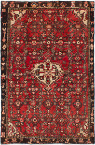 Hand Knotted Persian Carpet 4 3 X 6 8 Bordered Persian Traditional Wool Rug