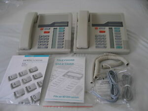 2x Nortel Norstar Meridian M7208 6 Line Corded Office Business Phone Ash
