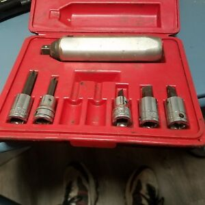 Snap on 3 8 Drive Impact Socket Driver Pit 120 Partial Set With Case