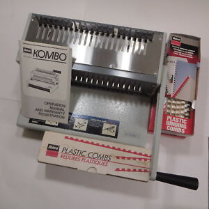 Ibico Kombo Manual Punch And Binding Machine With Plastic Combs