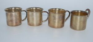 Vintage Lot Of 4 Sterling Silver Child Cups Wallace Reed Barton Saart