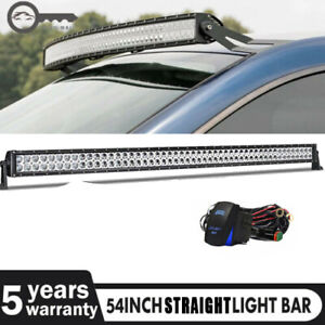 For Gmc Chevy Silverado 1996 2006 Led Light Bar Brackets Fit 54 Inch Curved