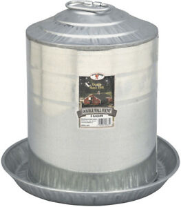 Little Giant Poultry Water Fount 5 Gallon 15 1 4 Dia X 15 1 4 High