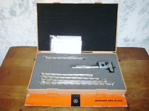 Mitutoyo 0 6 Inch Digital Depth Micrometer Set No 229 128 W Case