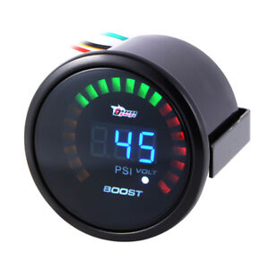 2 52mm Auto Car Turbo Boost Volt Gauge Digital Led Meter Psi Electronic Bi523