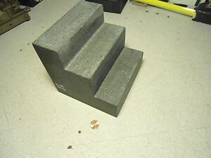 Granit Granite Surface Inspection Block Table Plate 3 Steps 6 x6 x6
