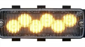 Whelen 500 Series Tir6 Super Led Amber clear Lens 50a03zcr
