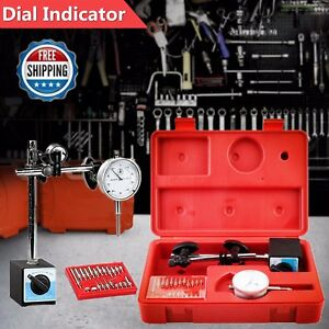 Dial Indicator Industrial Tool Magnetic Base Point Precision Inspection Set Bb