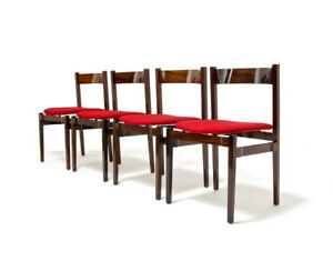 Mid Century Rosewood Dining Chairs Gianfranco Frattini For Cassina Italian 1960