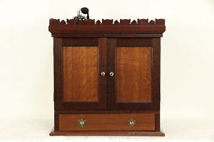 Victorian Antique 1870 Walnut Jewelry Chest File Or Collector Cabinet 30035