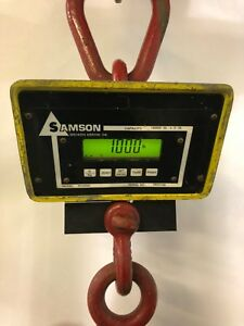 10 000 X 2 0 Lb Samson Industrial Overhead Digital Weighing Crane Scale