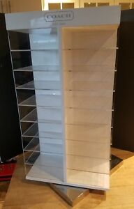 Rotating Countertop Used Eyeglass Sunglasses Glasses Display Case 36 Shelves