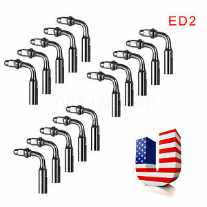 15x Usa Ship Dental Ultrasonic Scaler Endodontic Endo Tips Ed2 For Dte Satelec
