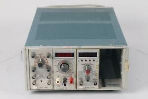 Tektronix Tm504 Dc502 Freq Counter Dm502 Multi meter Pg501 Pulse Generator