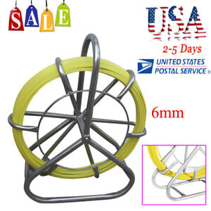 Us Fast Fish Tape Fiberglass Wire Cable Running Rod Duct Rodder Fishtape Puller