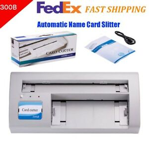 300b A4 Size Automatic Name Card Slitter Business Card Cutter Cutter Home Office