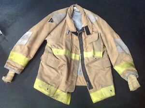 Firefighting Bunker Turnout Coat Janesville Lions Size 44 32 R