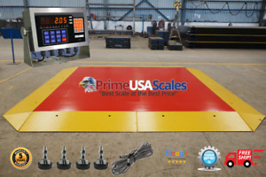 Pancake Floor Scale 10 x10 Pallet Scale 17 000 Lb Ramps Forklift Scale