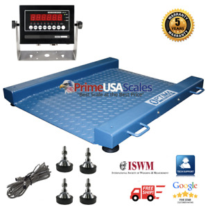 New Ntep legal For Trade Drum Floor Scale Easy Ramp Access 1000 Lb X 2 Lb
