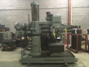 Carlton 4 X 11 Radial Drill Model 1a S n 1a 3343 Very Good Used Condition