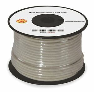 Tempco 12 Awg Tggt High Temperature Lead Wire Nickel Plated Copper 600vac