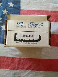Saeco #62398 Double Cavity .358 158gr 38 Cal Bullet Mold Bullet Casting Mould