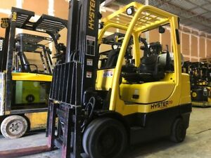 2008 Hyster 7 000 Lbs Forklift Warehouse Type Forklift 3 Stage Mast