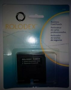 New Rolodex Business Card Punch 67699 Very Hard To Find New In Pack rare