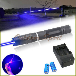 Q2b b 450nm Adjustable Focus Blue Laser Pointer Burning Matches Light Cigarettes